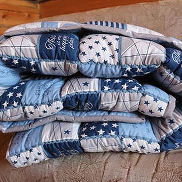 """Works for children handmade. Livemaster - original item Blanket """"Leader"""". Handmade."""