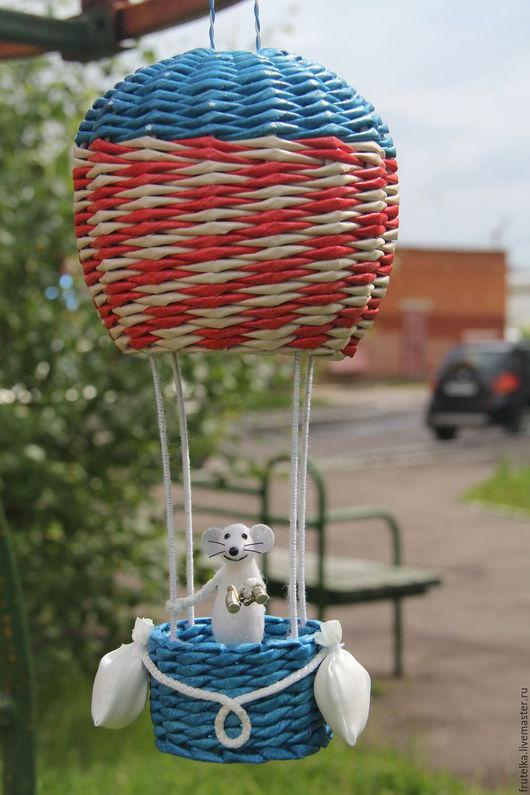Детская ручной работы. Ярмарка Мастеров - ручная работа. Купить Отважный мышонок (на воздушном шаре). Handmade. Мышь валяная