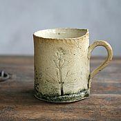 Посуда handmade. Livemaster - original item Mug ceramic Rustic Fog. Handmade.