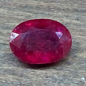 47 натуральный красный рубин огранка овал 8,4х6,3х3,4мм