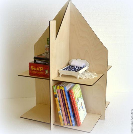 Кукольный дом ручной работы. Ярмарка Мастеров - ручная работа. Купить Открытый кукольный домик - полочка. Handmade. Домик