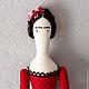 """Куклы Тильды ручной работы. Ярмарка Мастеров - ручная работа. Купить Текстильная интерьерная кукла. """"Буду Фридой"""". Handmade."""