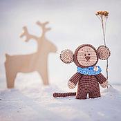 Куклы и игрушки ручной работы. Ярмарка Мастеров - ручная работа Мишка - обезьянка. Handmade.