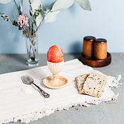 Подарки к праздникам handmade. Livemaster - original item Wooden stand for eggs with the salt shaker Siberian Cedar #ES9. Handmade.