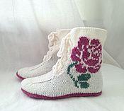 Обувь ручной работы. Ярмарка Мастеров - ручная работа Вязаные домашние кеды Шебби-шик. Handmade.