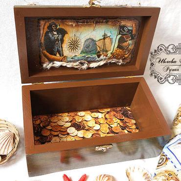 Для дома и интерьера ручной работы. Ярмарка Мастеров - ручная работа Сундук настоящего пирата. Handmade.
