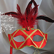 Одежда handmade. Livemaster - original item Mask in Venetian style with feathers