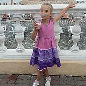 Работы для детей, ручной работы. Ярмарка Мастеров - ручная работа Платье для девочки, лён/хлопок. Handmade.