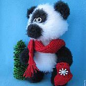 Материалы для творчества ручной работы. Ярмарка Мастеров - ручная работа Мастер-класс по вязанию игрушки Панда. Handmade.