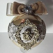 Для дома и интерьера ручной работы. Ярмарка Мастеров - ручная работа Елочный шар. Handmade.