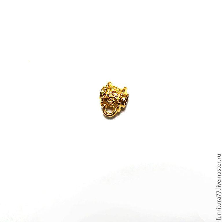 Для украшений ручной работы. Ярмарка Мастеров - ручная работа. Купить Бэйл подвес для кулонов золото. Handmade. Узор, бейл