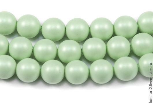 Для украшений ручной работы. Ярмарка Мастеров - ручная работа. Купить 6мм Pastel Green Жемчуг Сваровски Swarovski Perl 20 шт. Handmade.