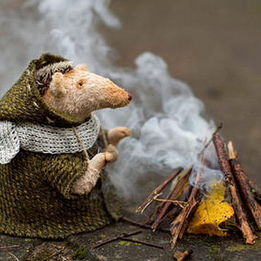 Куклы и игрушки ручной работы. Ярмарка Мастеров - ручная работа дым осеннего костра. Handmade.