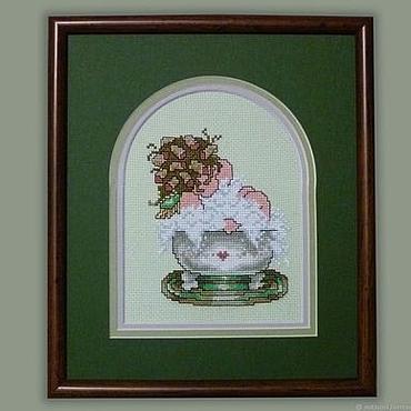 Для дома и интерьера ручной работы. Ярмарка Мастеров - ручная работа Вышивка крестом Пенная ванна. Handmade.