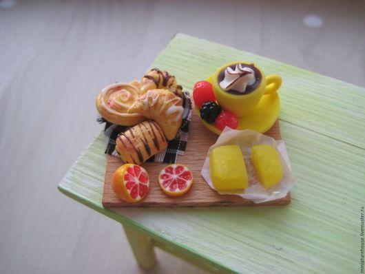 Еда ручной работы. Ярмарка Мастеров - ручная работа. Купить Миниатюра для кукол 1:12. Handmade. Белый, кукольные аксессуары, румбокс