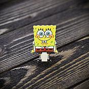 Украшения handmade. Livemaster - original item Wooden icon spongebob. Handmade.