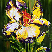 Подарки к праздникам handmade. Livemaster - original item Oil painting of iris. Handmade.