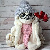 Куклы и игрушки ручной работы. Ярмарка Мастеров - ручная работа Заинька в очках. Handmade.