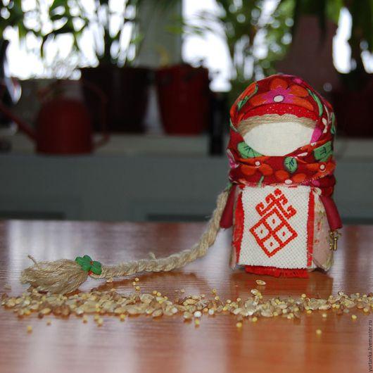 Народные куклы ручной работы. Ярмарка Мастеров - ручная работа. Купить Крупеничка оберег на благополучие + вышивка. Handmade. Комбинированный