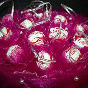 Цветы и флористика ручной работы. Ярмарка Мастеров - ручная работа Малиновый звон Букет из конфет. Handmade.