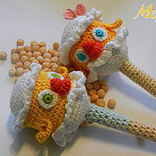 Куклы и игрушки ручной работы. Ярмарка Мастеров - ручная работа Вязаная погремушка Новорожденный цыпленок. Handmade.