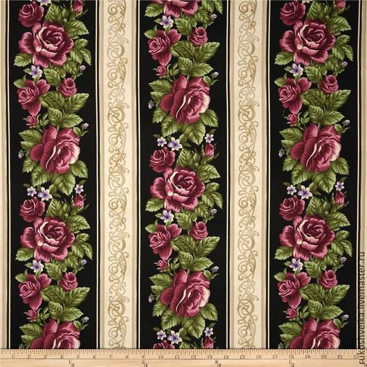Шитье ручной работы. Ярмарка Мастеров - ручная работа. Купить Ткань для пэчворка и шитья. Handmade. Разноцветный, розы, ткань