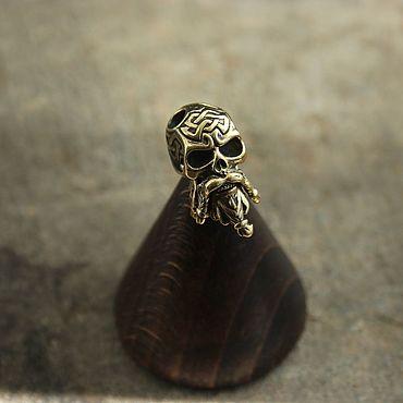Сувениры и подарки ручной работы. Ярмарка Мастеров - ручная работа Бусина для темляка  череп. Handmade.