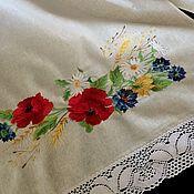 Русский стиль handmade. Livemaster - original item Towel linen