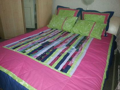 Текстиль, ковры ручной работы. Ярмарка Мастеров - ручная работа Лоскутный коплект для спальни. Handmade.
