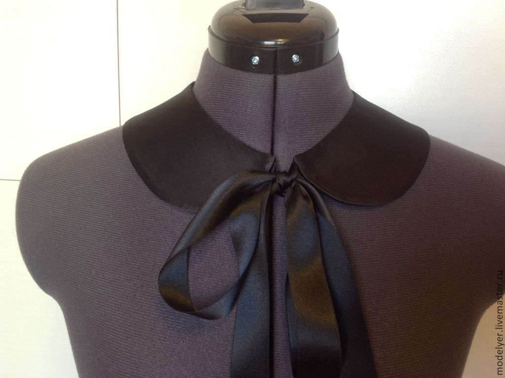 The collar is detachable / satin black, Collars, Moscow,  Фото №1