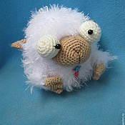 Материалы для творчества ручной работы. Ярмарка Мастеров - ручная работа Мастер-класс по вязанию смешной овечки. Handmade.