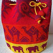 """Сумки и аксессуары ручной работы. Ярмарка Мастеров - ручная работа Сумка-рюкзак """"Африканский закат"""". Handmade."""