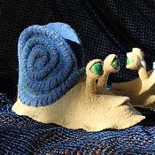 """Обувь ручной работы. Ярмарка Мастеров - ручная работа Детские валяные тапки """"Улитки"""". Handmade."""