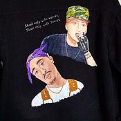 Мужская одежда handmade. Livemaster - original item Men`s denim shirt with hand-painted. Handmade.