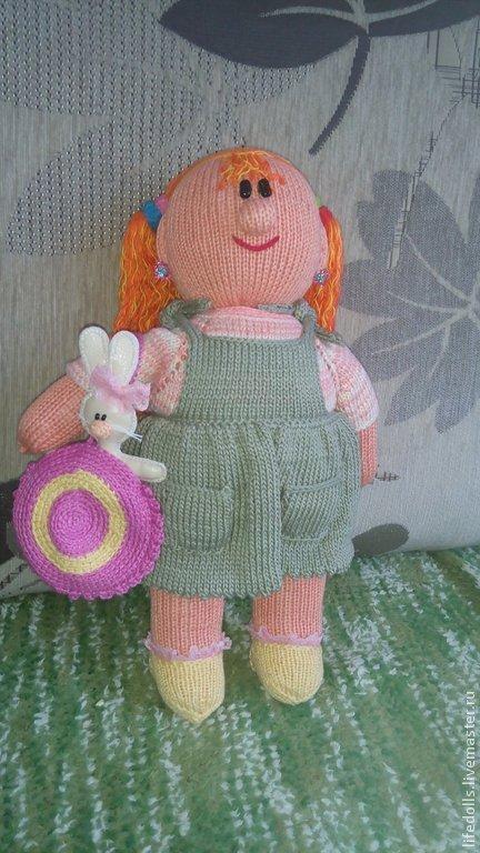 """Развивающие игрушки ручной работы. Ярмарка Мастеров - ручная работа. Купить Кукла из х/б ниток с наполнителем холлофайбер """"Пышка"""" с одеждой. Handmade."""