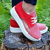 Обувь ручной работы. Ярмарка Мастеров - ручная работа Кеды на платформе ЛЕТО. Handmade.