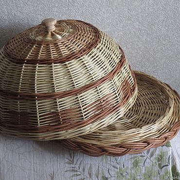 Для дома и интерьера ручной работы. Ярмарка Мастеров - ручная работа Хлебница плетёная с косой. Handmade.