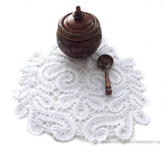 Текстиль, ярмарка Мастеров-ручная работа, купить салфетка кружевная, русское кружево, вологодское кружево, коклюшечное кружево,  для интерьера, кружево, купить салфетку  MadamKrugevo
