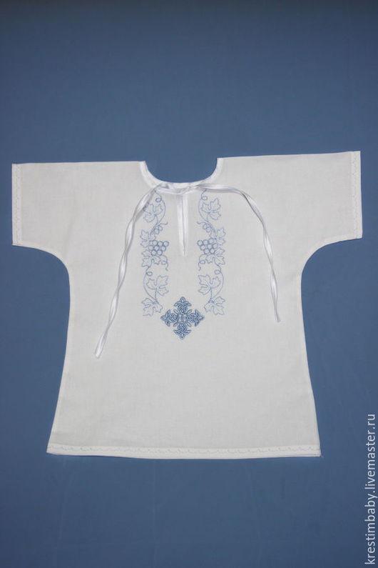 Крестильные принадлежности ручной работы. Ярмарка Мастеров - ручная работа. Купить Рубашечка крестильная простая. Handmade. Белый, крестильная рубашка
