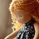 Вальдорфская игрушка ручной работы. Маруся, маленькая принцесса 34см. Калина Ерофеева куклы для детей. Интернет-магазин Ярмарка Мастеров.