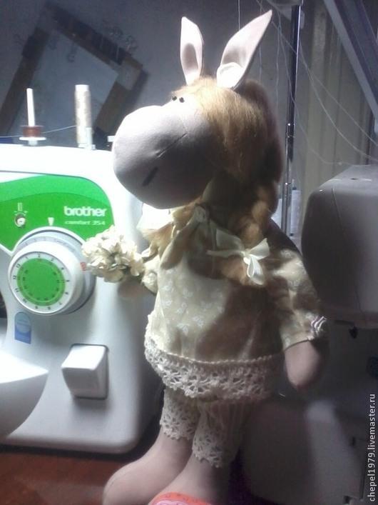 Куклы Тильды ручной работы. Ярмарка Мастеров - ручная работа. Купить лошадка Даша. Handmade. Бежевый, хлопок
