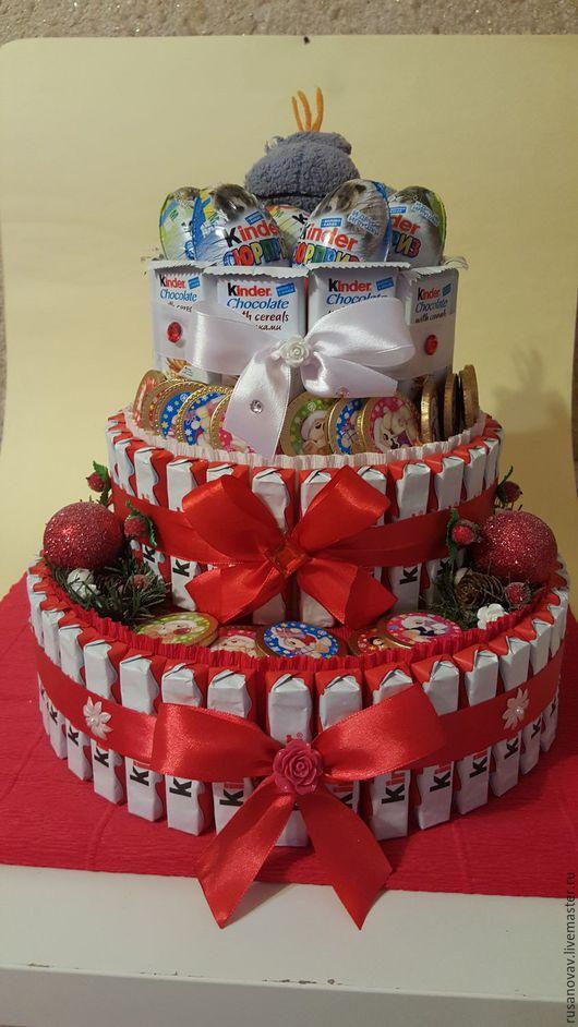 Персональные подарки ручной работы. Ярмарка Мастеров - ручная работа. Купить Тортик. Handmade. Конфеты, конфетная композиция, торт