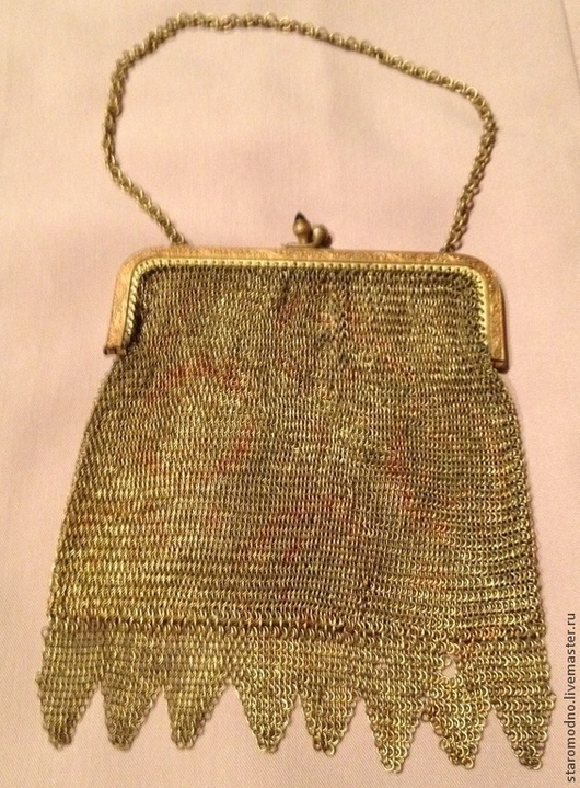 Антикварная сумочка кольчужного плетения. Германия.