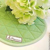 Для дома и интерьера handmade. Livemaster - original item Textile set for kitchen linen Apple Green. Handmade.