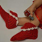 Работы для детей, ручной работы. Ярмарка Мастеров - ручная работа вязаные сапожки, носки, вязаные тапочки, домашняя обувь. Handmade.
