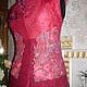Женский валяный жилет бордовый