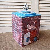 """Для дома и интерьера ручной работы. Ярмарка Мастеров - ручная работа Большой короб для хранения""""Курочки-наседки"""". Handmade."""