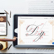 Материалы для творчества handmade. Livemaster - original item Cards for calligraphy in PDF. Handmade.