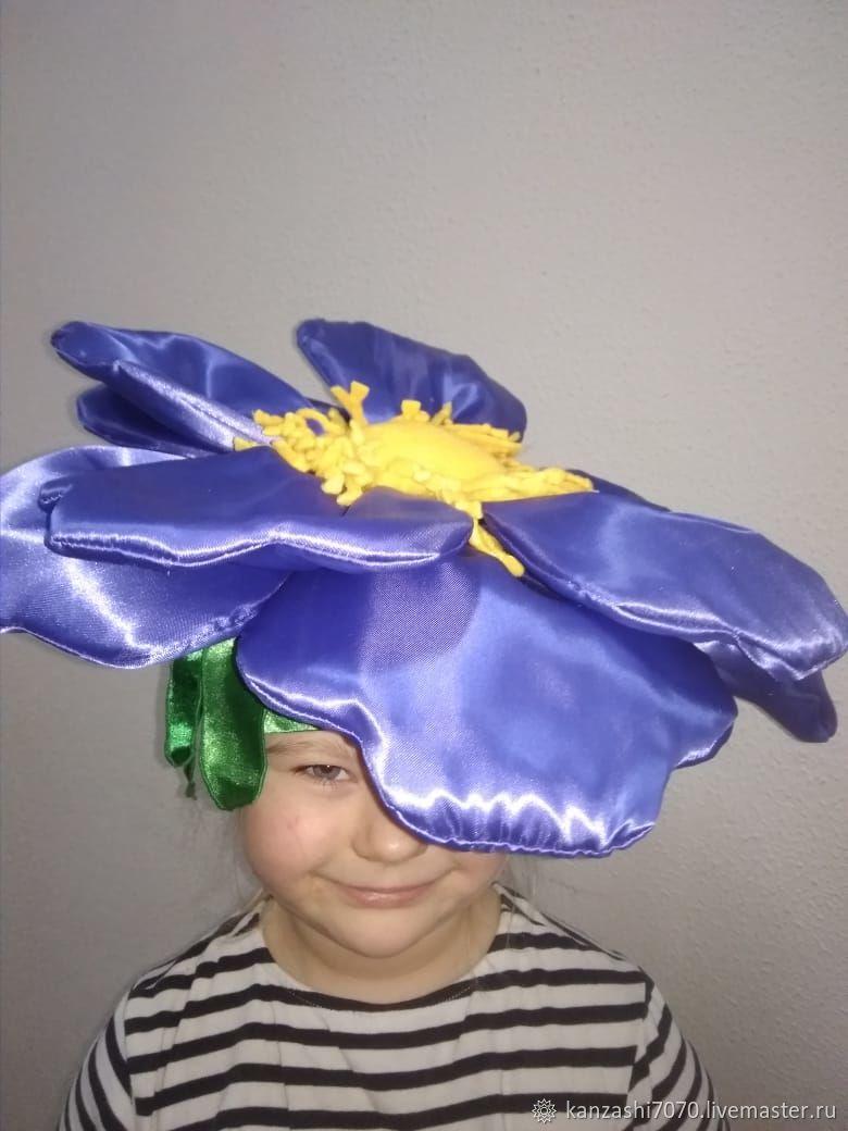 Headdress ' Violet', Carnival Hats, Moscow,  Фото №1