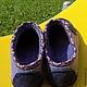 """Обувь ручной работы. Туфельки  """"Листик фиолетовый"""". Сарычева Елена. Ярмарка Мастеров. Обувь для улицы"""